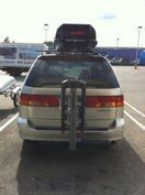 Honda Odyssey with a Yakima SwingDaddy and Skybox Pro 21.  #hitchngear