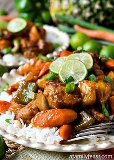 Sweet and Sour Key Lime Pork - A delicious dinner your whole family will love!