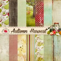 A set of beautiful Autumn/Harvest themed papers designed to coordinate with the Autumn Harvest collection from Raspberry Road.