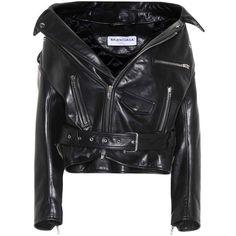 Balenciaga Leather Jacket (193.390 RUB) ❤ liked on Polyvore featuring outerwear, jackets, black, coats, tops, leather, 100 leather jacket, real leather jackets, leather jackets and genuine leather jackets