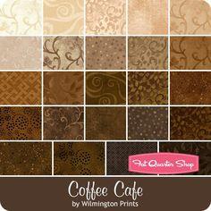 "Coffee Cafe Essential 10 Karat Mini-Gems Wilmington Prints - Layer Cakes & 10"" Squares  | Fat Quarter Shop"