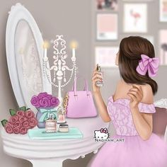 Discovered by princess Rose. Find images and videos about girly on We Heart It - the app to get lost in what you love. Beautiful Girl Drawing, Cute Girl Drawing, Cartoon Girl Drawing, Best Friend Drawings, Girly Drawings, Sarra Art, Girly M, Cute Cartoon Girl, Cute Girl Wallpaper