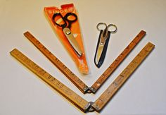 Vintage Cutting And Measuring Tools Scissors by Collectitorium Vintage Scissors, Sewing Scissors, Pinking Shears, Vintage Tools, Ruler, Gifts For Mom, Christmas Gifts, My Etsy Shop, Gift Ideas