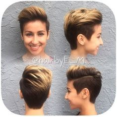 @hairbyelm Great cut and color #blondehair #blondepixie #cutecut #cutiepixie #pixieup #nothingbutpixies