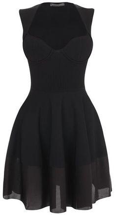 Exposed Bustier Mini Dress - Lyst