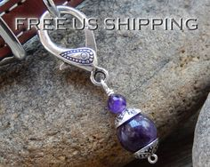 Amethyst Pet Charm Pet Crystal Healing Pet by SoulTresures on Etsy