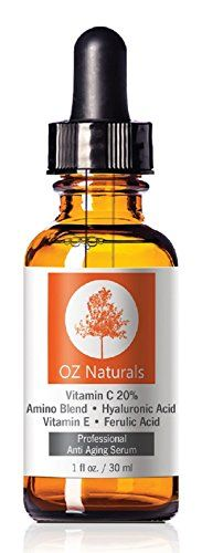 OZ Naturals - THE BEST Vitamin C Serum For Your Face - Organic Vitamin C + Amino + Hyaluronic Acid Serum- Clinical Strength 20% Vitamin C with Vegan Hyaluronic Acid Leaves Your Skin Radiant & More Youthful By Neutralizing Free Radicals. This Anti Aging Serum Will Finally Give You The Results You've Been Looking For! 1 Ounce OZ Naturals http://www.amazon.com/dp/B00DPE9EQO/ref=cm_sw_r_pi_dp_Mb0Jvb1KC05BY