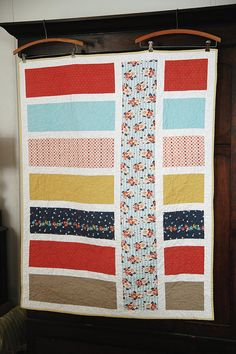 Modern, shabby chic baby quilt by naturemomm, via Flickr