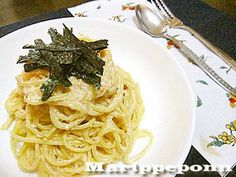 タモリ風★たらこスパゲティ Wine Recipes, Pasta Recipes, Cooking Recipes, Cooking Ideas, Japanese Food, Noodles, Spaghetti, Food And Drink, Lunch