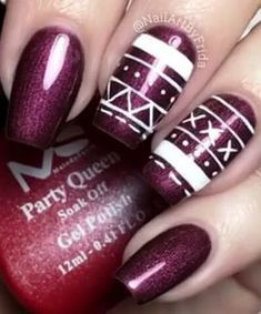 Best Winter Nails Red Colors For Long Nails Art Designs Long Nail Art, Red Nail Art, Long Acrylic Nails, Long Nails, Hot Pink Nails, Purple Nails, Red Nails, Color Nails, Nail Art Designs