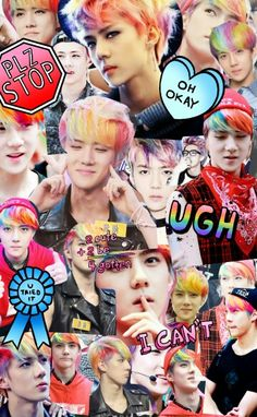 I am kind of in love with Sehun's rainbow hair in case you can't tell yet