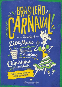 Brazilian Carnival Festival Poster, Colourful Graphic Design by www.diagramdesign.co.uk