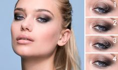 ΒΗΜΑ-ΠΡΟΣ-ΒΗΜΑ: ΜΑΤΙΑ ONCOLOUR   Oriflame Cosmetics Silver Eyeshadow, Big Lashes, Smoky Eyes, Oriflame Cosmetics, Nude Lip, Eyeshadow Brushes, Tips Belleza, Concealer, Mascara