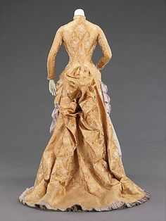 Evening Dress 1880, American, Made of silk