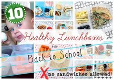 Give your kids a break from sandwiches in their lunchbox and check out these 10 healthy school lunch ideas... No sandwiches allowed! | babble.com