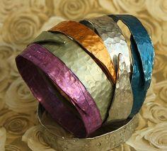 Smashed Knitting Needle BRACELET  Band Style by ChristinesCabinet, $24.00