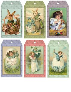 Free Primitive Easter Hang Tags / Sew Dear To Me