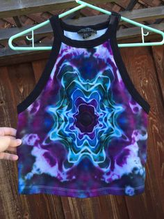Grab this purple star crop top at Galenstiedyeshop on Etsy https://www.etsy.com/listing/385342090/large-purple-star-halter-tie-dye-crop