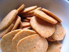 Cheddar coins - aka Healthy Cheez-Its.