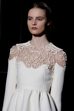 When the dressmaker acquires carpel tunnel syndrome constructing a garment, you know that's some serious craftsmanship - Valentino Couture