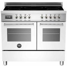 Bertazzoni Pro 100 Induction Range Cooker - White/Stainless Steel