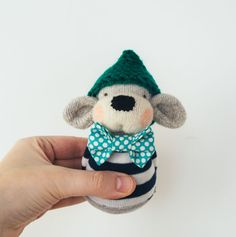 Wilf  the weighted sock monkey by thesculptedsock on Etsy