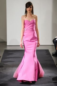 Trumpet or fit to flare with sweetheart strapless neckline.   Vera Wang FW14 Dress 14
