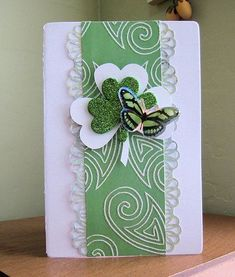 A Project by MarianneG from our Cardmaking Gallery originally submitted at AM St Patricks Day Cards, Happy St Patricks Day, Saint Patricks, St Patrick's Day Decorations, St Paddys Day, Embossed Cards, Greeting Cards Handmade, Diy Cards, Homemade Cards