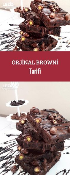 Original Browni Rezept – My Delicious Food - Kuchen Brownie Recipes, Cheesecake Recipes, Chocolate Recipes, Dessert Recipes, Food Cakes, Sweet Pancake Recipe, Perfect Cheesecake Recipe, Desserts To Make, Turkish Recipes