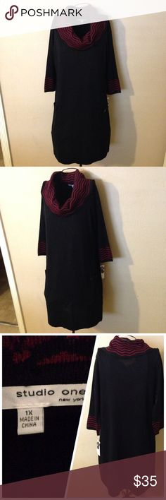 🎉Super cute sweater dress size 1X so nice look🎉 Super cute comfy dress Studio one  Dresses Midi