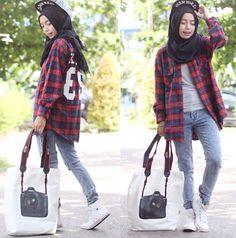 Contoh Hijab Cantik Untuk Kamu Yang Tomboy