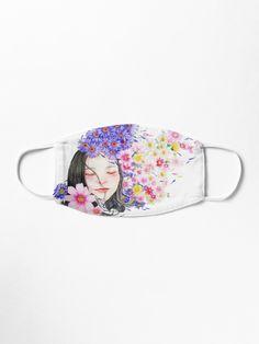 """I am a dreamer Hawaiian Girl"" Maske von Herogoal | Redbubble The Dreamers, Hawaiian Girls, Masks For Sale, Make A Donation, Watercolor Portraits, Girl Wallpaper, Mask Design, Art Boards, Snug"