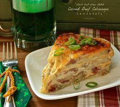 Irish Cast Iron Skillet Corned Beef Colcannon Casserole - Wildflour's Cottage Kitchen