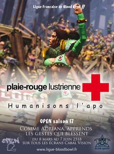 Open saison 17 en Ligue française 2 de la LFBB. Blood Bowl 2.