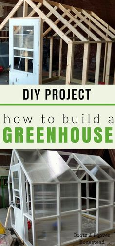 Shed DIY - How to build a greenhouse. DIY project for your homestead or small farm. #smallgardens Now You Can Build ANY Shed In A Weekend Even If You've Zero Woodworking Experience!