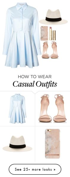 """Casual morning"" by rowanstella-1 on Polyvore featuring STELLA McCARTNEY, Stuart Weitzman, rag & bone and Stila"