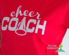 Hoodie CHEER COACH sweatshirt, lightweight glittery Mom fanwear- choose from 2 styles