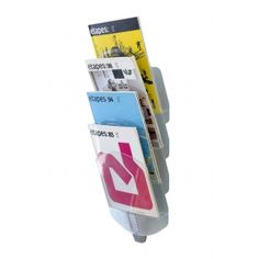 This is one of the most unique wall-mounted magazine racks we have ever offered. It is made by Paperflow and is called the Vertebro. It is French designed and costs just $41. It is excellent in a waiting room, office lobby or in a school setting. It makes literature, magazines and other material easy to view and access.