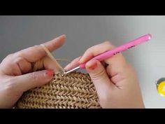Crotchet Bags, Bag Crochet, Crochet Hooks, Crochet Star Stitch, Crochet Stars, Crochet Bowl, Herringbone Stitch, Crochet Stitches Patterns, Knitted Blankets