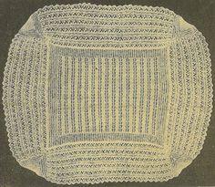 VCP121 2ply  baby christening shawl vintage knitting by Ellisadine
