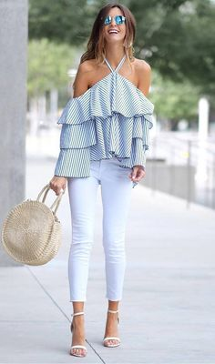 cute ootd top + bag + skinnies