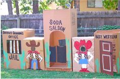 wild wild west - cowboy party set up - designdazzle.blogspot