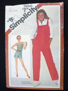Simplicity Sewing Pattern 5266 Womens Jumpsuit Romper Overalls Size 14 UC #Simplicity