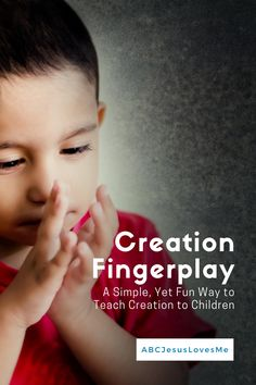 Creation is one of the most important stories in the Bible for children to learn. But, trying to bring the story to a preschooler's level can be challenging. Enjoy this free, fun creation fingerplay! #creation #fingerplay #preschoolBible #ABCJesusLovesMe