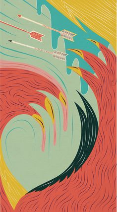 part of The River by Maaike Bakker. AMAZING color and line work.