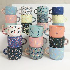 Ceramic Mugs by Leah Jackson. #p_roduct