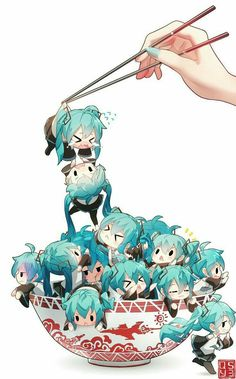 💕❤️many Hatsune miku chibi's kawaiii~❤️💕 Loli Kawaii, Kawaii Chibi, Cute Chibi, Kawaii Cute, Anime Girl Cute, Kawaii Anime Girl, Anime Art Girl, Manga Anime, Fanart Manga
