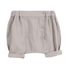 48b41d68a5c Γκρι baggy παντελόνι με ξύλινα κουμπάκια στο πλάι. Από 100% βαμβάκι  Κίτρινο, Κουμπιά
