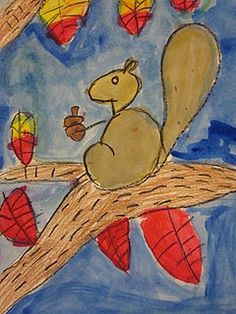 oh so cute squirrels from the number 3!  found at The Art Teacher's Closet blog.
