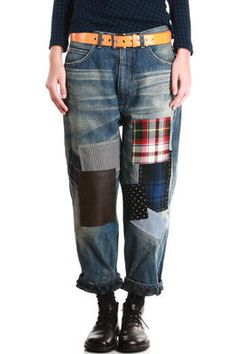 JUNYA WATANABE. But I can do this myself if I want to, I do not have to buy it. It's not very hard to make this if you have a pair of worn-out jeans and can operate a sewing machine.